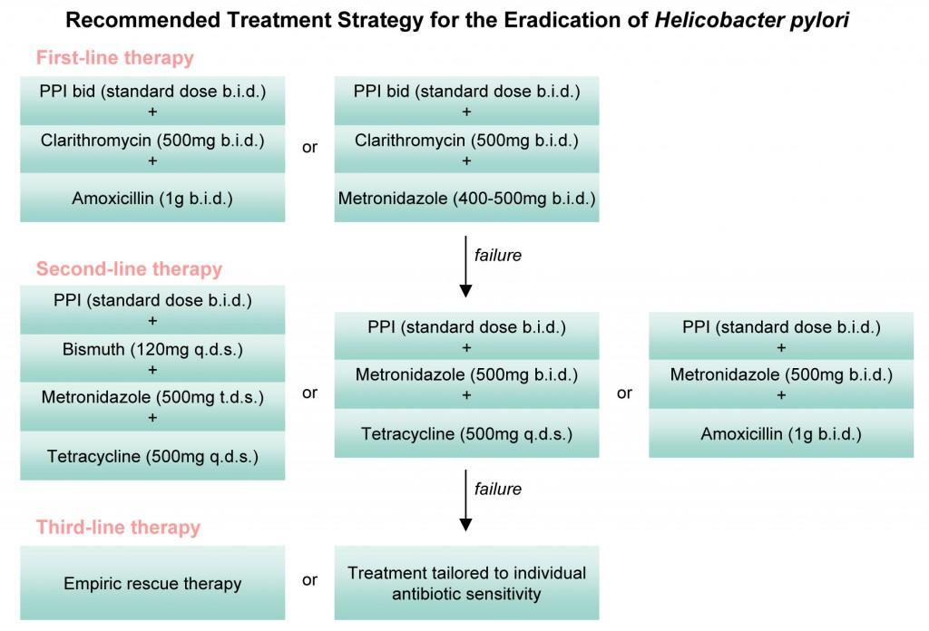 Схемы лечения хеликобактер пилори