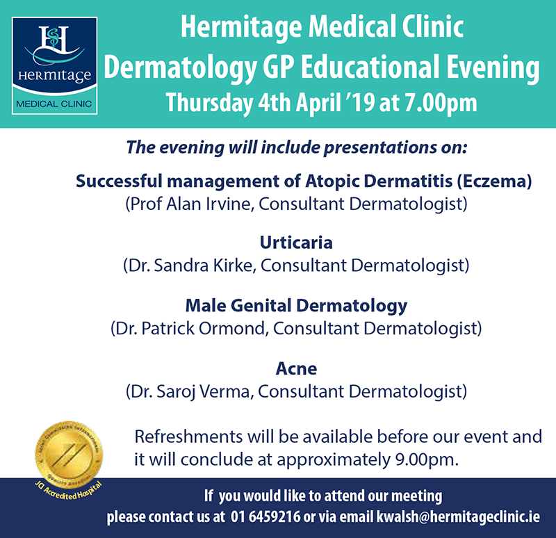 Hermitage Medical Clinic Dermatology GP Instructional Night